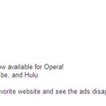 Убрать рекламу в Opera