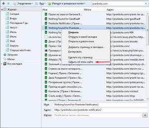 Как убрать сайт из Mozilla Firefox