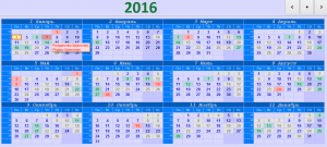Простой и удобный календарь на компьютер